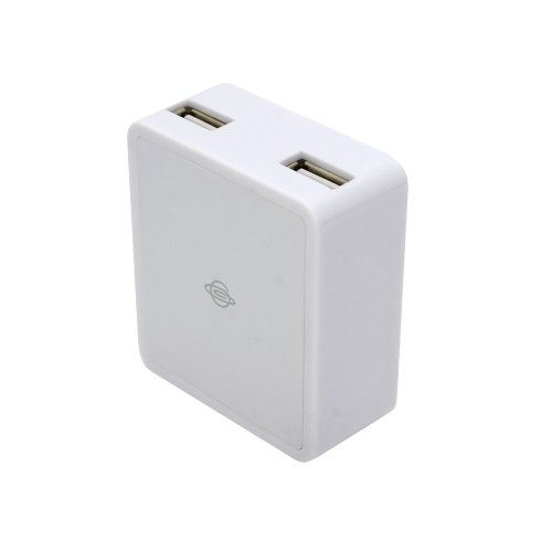 PLANEX Dual USB Universal Wall Charger Power adapter with Folding Prongs-White/2 ports Ultra-fast 2,000 mA USB Travel Charger Adapter for iPhone / iPod /Xperia/ PDA 'Universal Charge' USB 2 PORT charger-OUTPUT: DC 5V, 2A maximum/Dual USB and AC Wall Charger WHUCH03W for iPhone/iPod/iPad