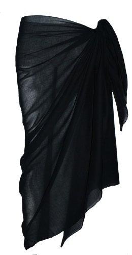 Plain Black Cotton Sarong