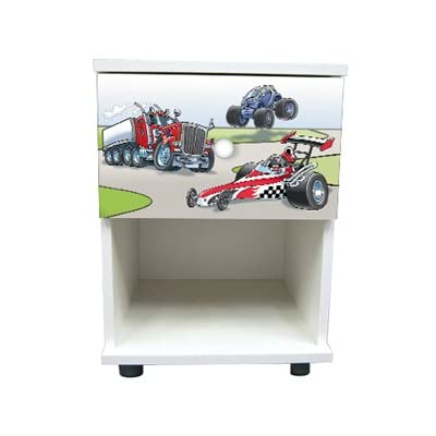 Car Design Children's/Kids White Bedroom Furniture Sets