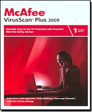 McAfee VirusScan Plus 2009 1-User [OLD VERSION]