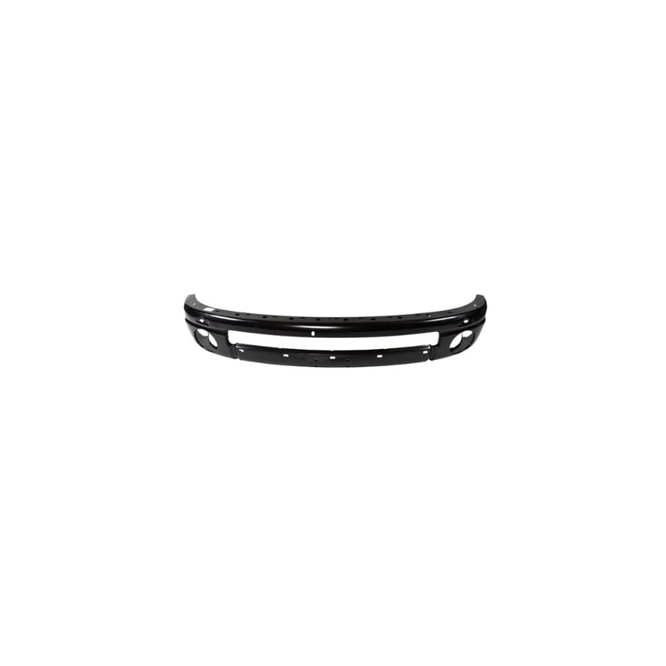 CarPartsDepot, Pickup Truck Front Black Steel Bumper Beam Reinforcement, 348 17431 10 CH1006185 55077960AC