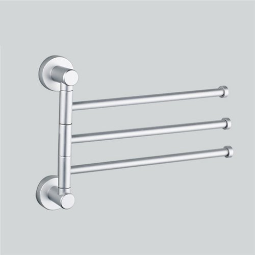 AUCH New/Durable/Useful Wall-Mounted High Quality Aluminium Alloy Swing Bathroom/Kitchen Towel Bar Rack Hanger Holder Organizer Pattern A(3-Arm) (Kitchen Towel Rack compare prices)
