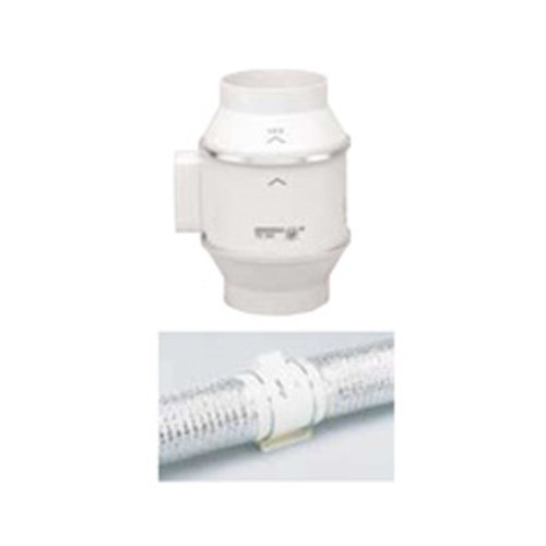 """S&P 4"""" Td-Mixvent Td-100 In-Line Duct Fan, 97/101 Cfm, 120V - 60 Hz, 23/26 W"""