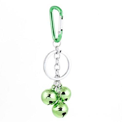 Green Bell Pendant Spring Loaded Gate Mini Carabiner Hook Ring Keyring