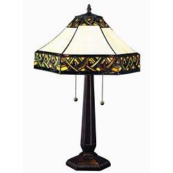 tiffany style alhambra table lamp. Black Bedroom Furniture Sets. Home Design Ideas