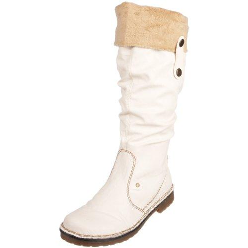 Rieker Women's Debbie 75950 White Knee High Boot 75950/80 6 UK D