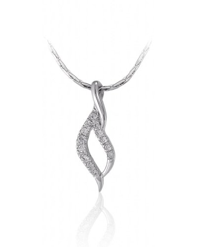 Lifestyle Infinity Silver Brass Rhodium Plated Pendant For Women (INF - P212002AR )