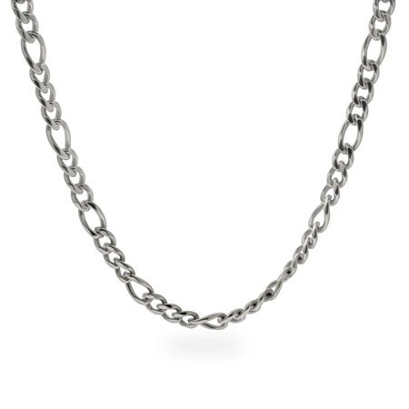 6mm Stainless Steel Figaro Chain Length 24 inches (Lengths 18 inches 20 inches 24 inches Available)