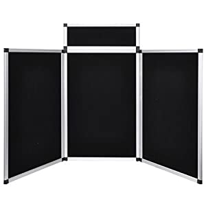 3 panel 6 39 black trade show tabletop portable for Office display board