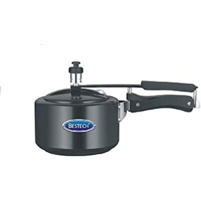 Bestech Hard anodized Pressure Cooker, 5 Litre, Black