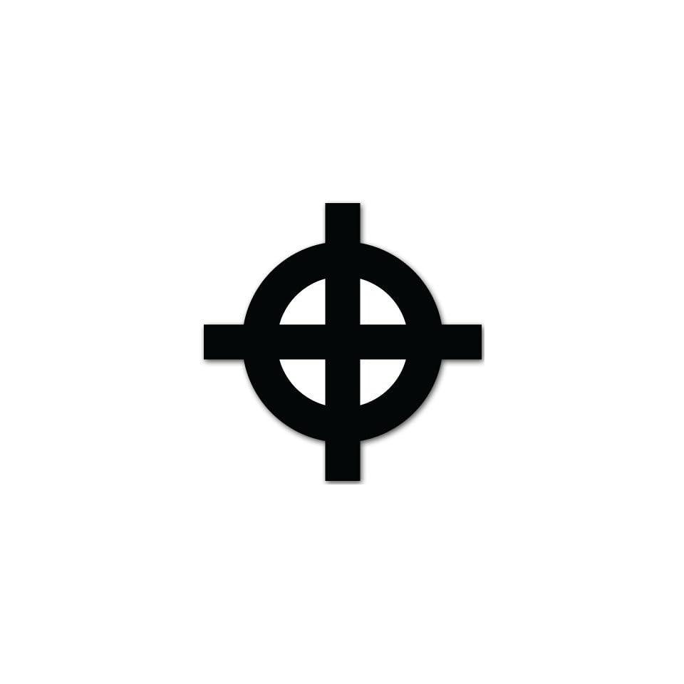 Celtic Cross religious bumper sticker decal 4 x 4