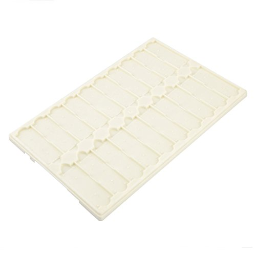 Lab Coverless Microscope Glass Holder Slide Box Beige For 20 Slides
