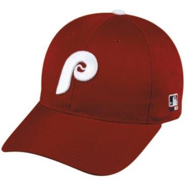 MLB Cooperstown ADULT Philadelphia PHILLIES Maroon Hat Cap Adjustable Velcro TWILL Throwback