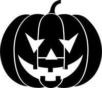 Amazon.com: Grinning Pumpkin Stencil - 60 inch (at longest point) - 14