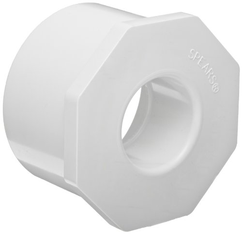 Spears 437 Series PVC Pipe Fitting, Bushing, Schedule 40, White, 8