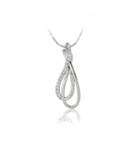 Lifestyle Infinity Lifestyle Clear Cubic Zirconia Drop Necklace For Women (P212001AR) (Transperant)