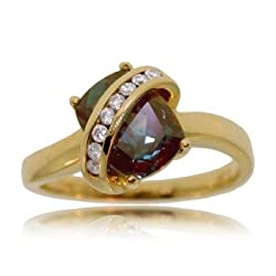 Alexandrite &amp; Diamond Ring