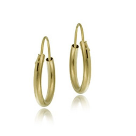 14k Gold Mini Endless Hoop Earrings