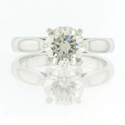 1.51ct Round Brilliant Cut Diamond Engagement