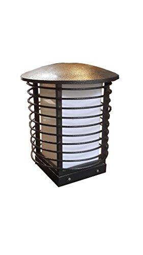 Round Ring Caged Style LED Gate Light (Grey)