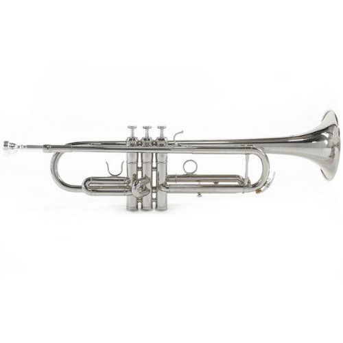 Student Trumpet by Gear4music Silver New 2010