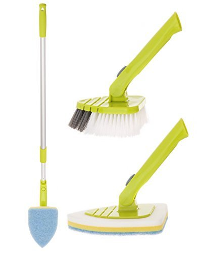 pure-care-tile-and-tub-brush-and-scrubber-set-with-extension-pole-telescopes-from-34-to-515