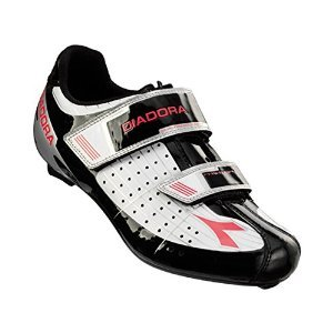 Diadora Women's Phantom Road Cycling Shoe - 159736-C4578 (white/black/fuxia red - 40)