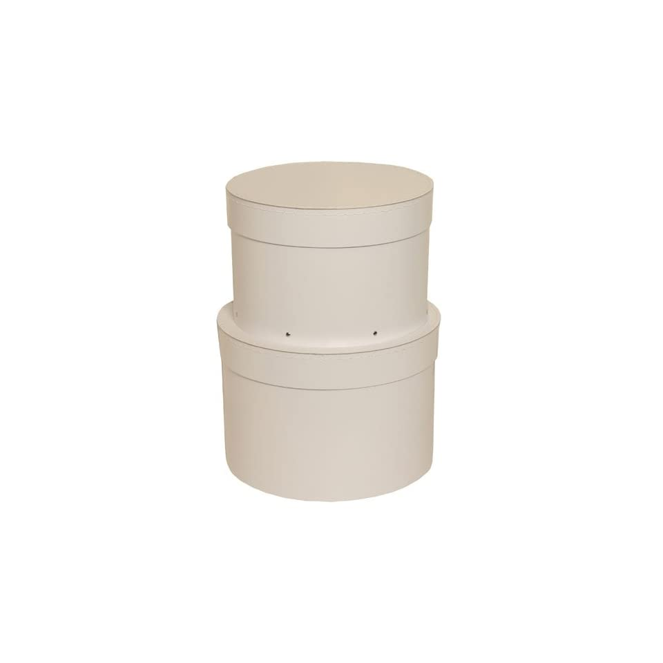 White Nesting Set Hat Boxes with Removable Lids   Sold individually