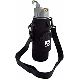 Nathan Hydration 2012 Neoprene Bottle Sling w/Zippered Pocket - 4010NB