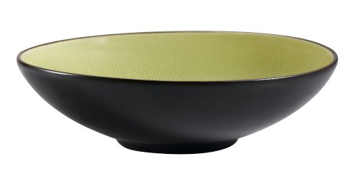CAC China 666-39-G Japanese Style 9-Inch Golden Green Salad Bowl, Box of 12