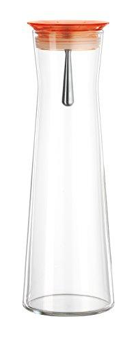 bohemia-cristal-093-006-indis-caraffa-in-vetro-con-tappo-salvagoccia-1100-ml-arancione