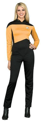 Star Trek Next Generation Gold Jumpsuit Deluxe Halloween Costume - Adult Size Medium