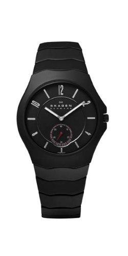 Skagen - EU815LBXC - Montre Homme - Quartz Analogique - Bracelet céramique Noir