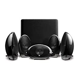 KEF KHT1005 2GB 5 1 Subwoofer Satellite System with KUBE-1 Gloss Black