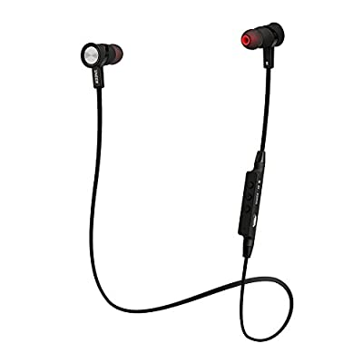"""SNEER """"iSport"""" Series HBS-801 Premium 2014 Newest Mini Wireless Bluetooth Headset Stereo Sports/Running & Gym/Exercise Bluetooth Earbuds Headphones Headsets w/Microphone for Iphone 6 5S 5C 4S 4, Ipad 2 3 4 New iPad,iPad Air Ipod, Android, Samsung Galaxy S"""