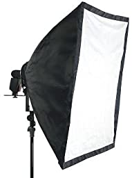 Alzo Large Softbox 24X36 In for Porta Flash Speedlight-And Large Flashes Incl. Metz & Quantum