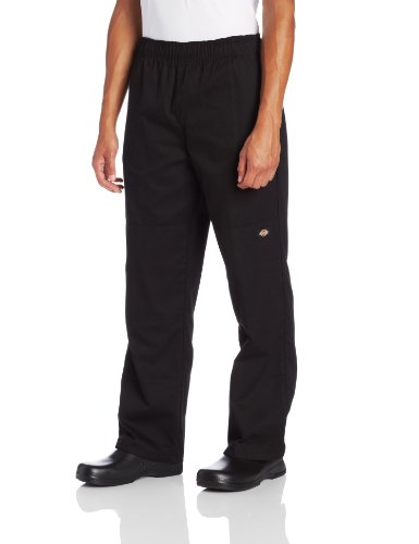 Dickies Men's Double Knee Baggy Chef Pant, Black, Large (Mens Black Chef Pants compare prices)