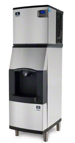Manitowoc Iy-0525W-Spa-160 480 Lb Water-Cooled Half Cube Ice Machine W/ Spa-160 Hotel Dispenser