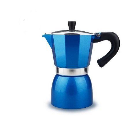 240ml Aluminum Stovetop Espresso Maker Classic Electric Moka Coffee Pot Espresso Coffee Pots Moka Coffee Maker Blue (Parts For Kerrigan Coffee Maker compare prices)