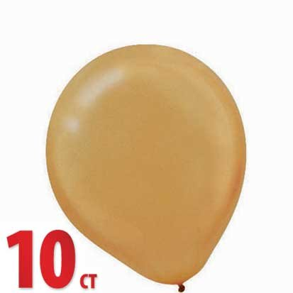 Gold Pearl 12in Latex Balloons 10ct