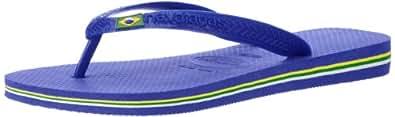 Havaianas Men's Brasil Logo Flip Flop ,Marine Blue,41/42 BR (9 M US)