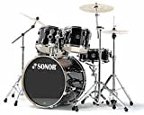Sonor F2007 Stage 2 Series Shell Pack Drum Set - Black