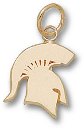 Michigan State Spartans Solid Spartan 1 2 Charm - 14KT Gold Jewelry by Logo Art