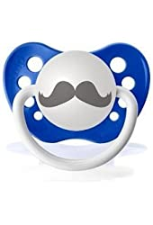 Personalized the Barber Mustache Dark Blue Pacifier Paci Orthodontic Binky Baby Boy