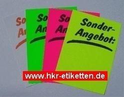 Plakatkarton offre bac : 270 g/m², 50 affiches, dIN a4) fluor rose