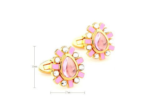 Romestyle Design Cufflinks Luxury Pink Plated Gold Cuff link