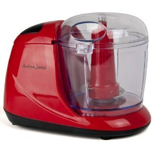 Save Price Andrew James Red Mini Chopper, Processor, Blender, Grinder, Slicer, Baby Food. New In Stock (Red)