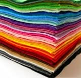 Jumbo Pack of Acrylic Felt - 60 A4 Sheets in 15 Assorted Colours