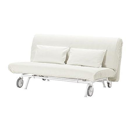 IKEA PS - cubierta sofá-cama de dos asientos, blanco Gräsbo