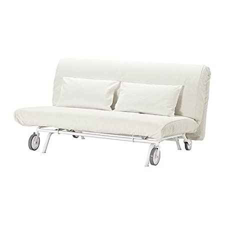 IKEA PS - cubierta sofá-cama de dos asientos, blanco GrÀsbo